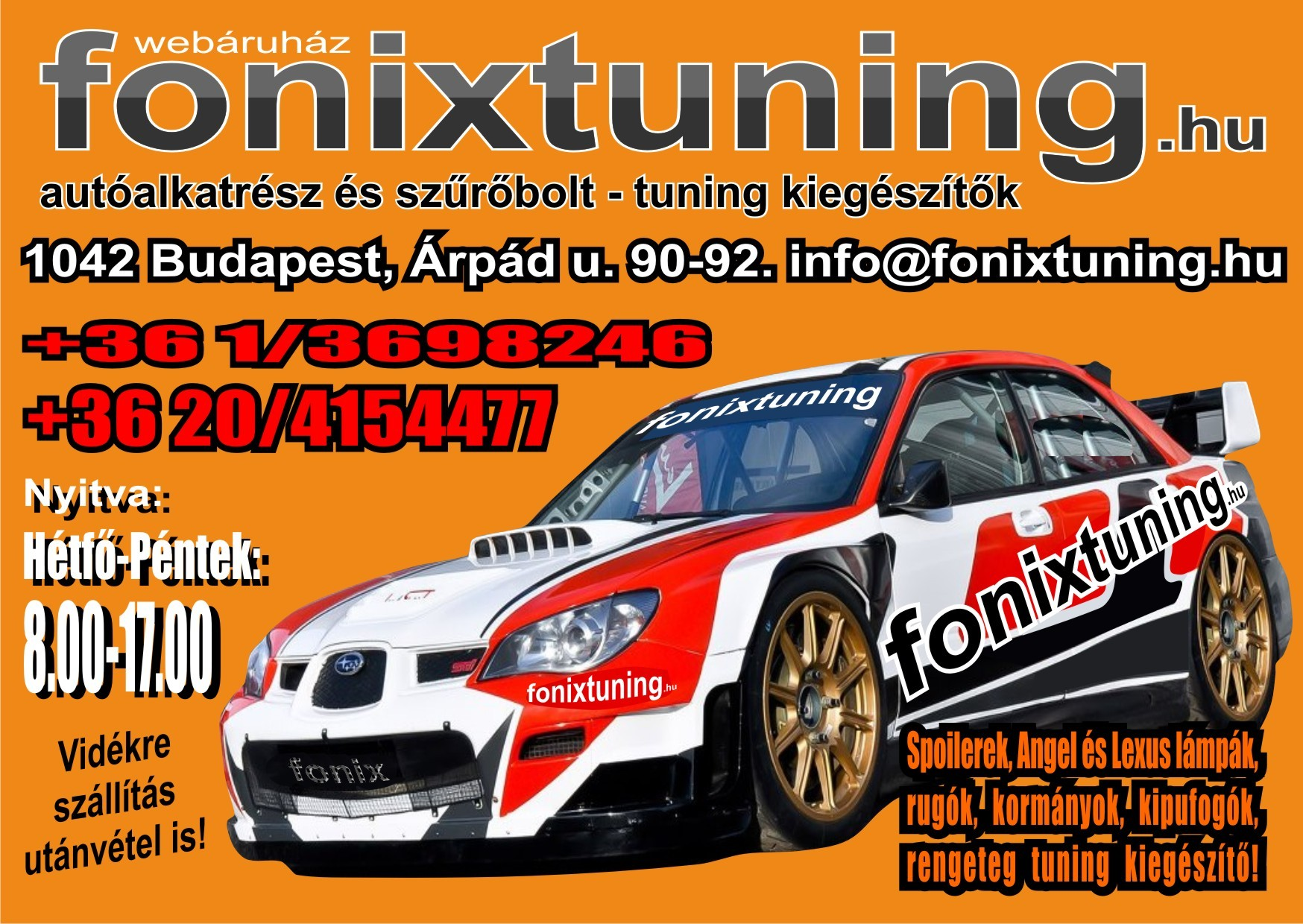 FőnixTuning a tuning webshop banner